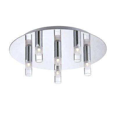 Cube 6-Light Flush Mount