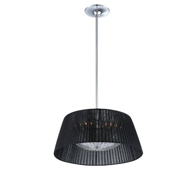 Salvo 2-Light Drum Pendant Shade Color: Black