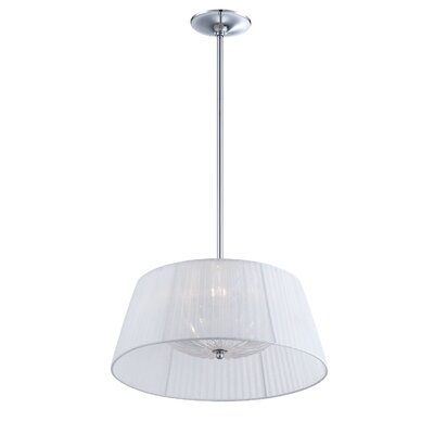 Salvo 2-Light Drum Pendant Shade Color: White