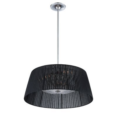 Salvo 3-Light Drum Pendant Shade Color: Black