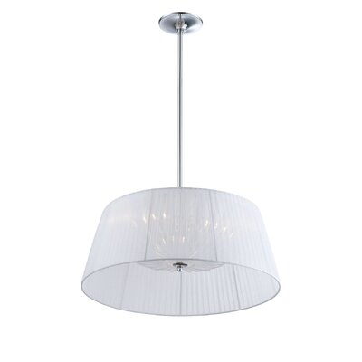Salvo 3-Light Drum Pendant Shade Color: White
