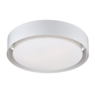 Saturn 3-Light Flush Mount Finish: White
