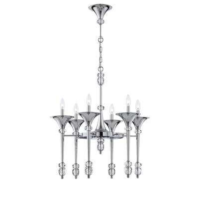 Cannello 6-Light Candle-Style Chandelier