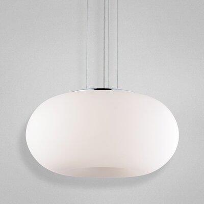Pop-2 3-Light Convertible Globe Pendant Shade: White
