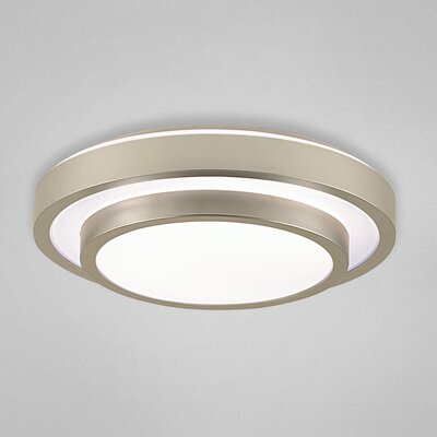 Noire 1-Light Flush Mount Size: 3.5 H x 16 W x 16 D