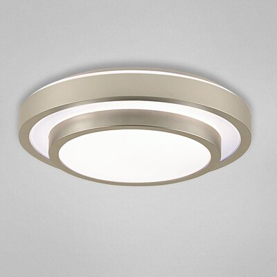 Noire 1-Light Flush Mount Size: 3.5 H x 17.5 W x 17.5 D