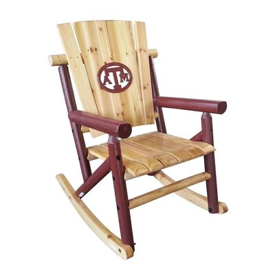 LeighCountry NCAA Collegiate Aspen Rocking Chair - NCAA Team: Texas A & M Medallion