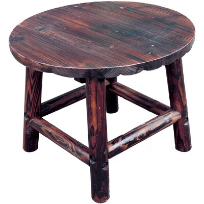 Char-Log Round End Table