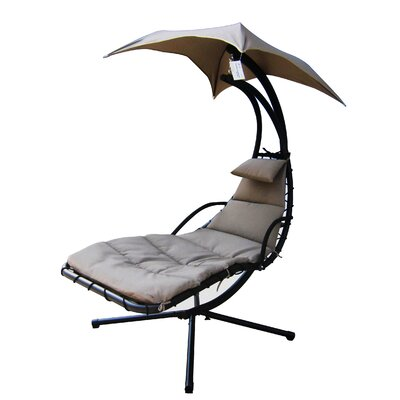 Banana Polyester Hanging Chaise Lounger with Stand