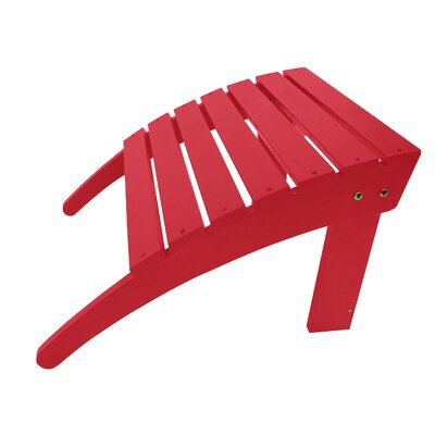 Adirondack Ottoman Finish: Red