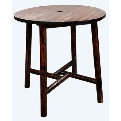 Char-Log Round Bar Table II