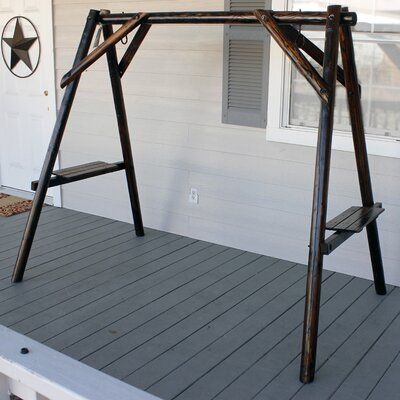 Char-Log Porch Swing Stand