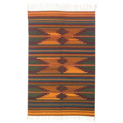 Ocre Zapotec Area Rug Rug Size: 41 x 61