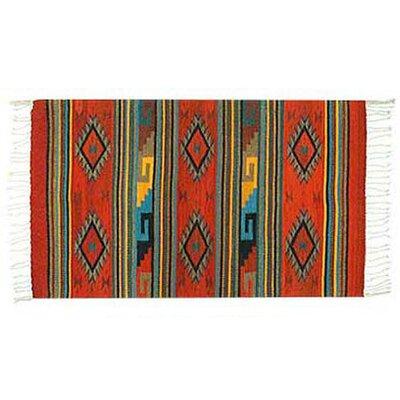 Rhombus Fire Zapotec Rug Rug Size: 27 x 410