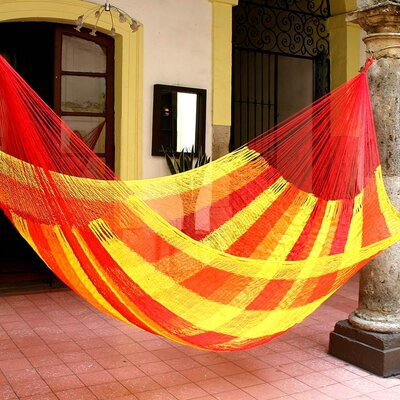 Maya Artists of the Yucatan Nylon Tree Hammock Color: Mayan Fabric, Size: 7.2 X 12.8