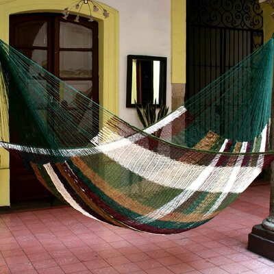 Maya Artists of the Yucatan Nylon Tree Hammock Color: Mother Earth, Size: 7.2 X 12.8