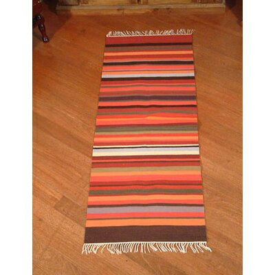 Highland Sunset Striped Area Rug Rug Size: 2 x 51
