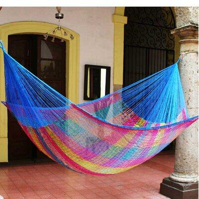 Maya Artists of the Yucatan Nylon Tree Hammock Color: Rainbow Seascape, Size: 7.2 X 12.8
