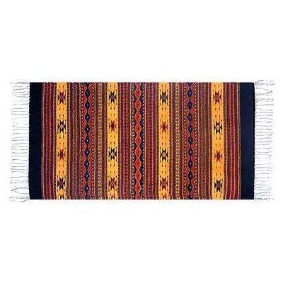 Oaxaca Sun Zapotec Area Rug Rug Size: Runner 27 x 411