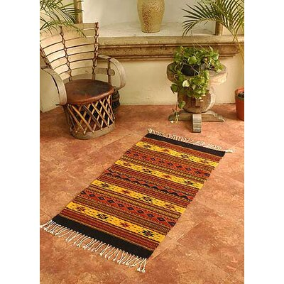 Oaxaca Sun Zapotec Area Rug Rug Size: Rectangle 27 x 411