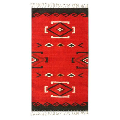 Zapotec Red Area Rug Rug Size: 2 x 34