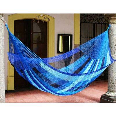 Maya Artists of the Yucatan Nylon Tree Hammock Color: Caribbean in Blue, Size: 7.2 X 12.8