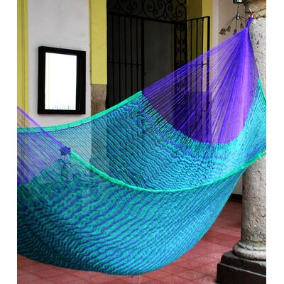 Maya Artists of the Yucatan Nylon Tree Hammock Color: Royal Pheasant, Size: 7.2 X 12.8