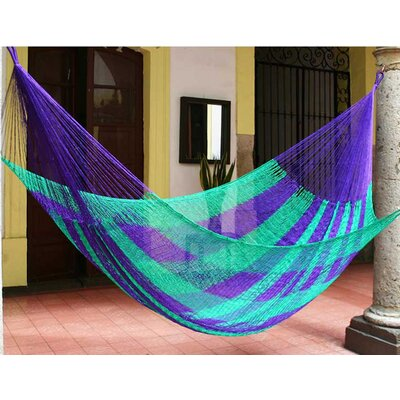 Maya Artists of the Yucatan Nylon Tree Hammock Color: Green Vineyard, Size: 7.2 X 12.8