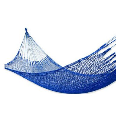 Maya Artists of the Yucatan Nylon Tree Hammock Color: Ocean Blue, Size: 3.9 X 13.1