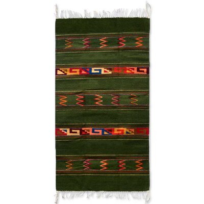 Summer Meadow Zapotec Rug Rug Size: Runner 27 x 411