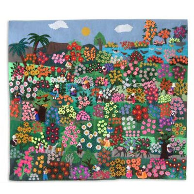 Botanical Garden Applique Wall Hanging
