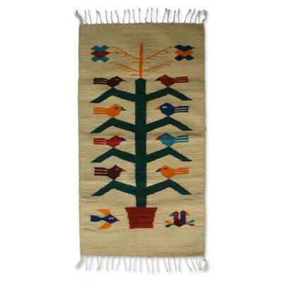 Birds Hand-Loomed Area Rug