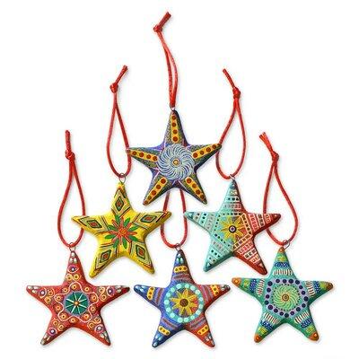 6 Piece Artisan Crafted Ceramic Christmas Ornament Set
