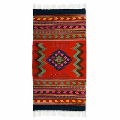 Fair Trade Hand-Woven Red Area Rug