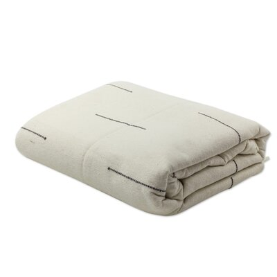 Hand-Woven Cotton Zapotec Bedspread