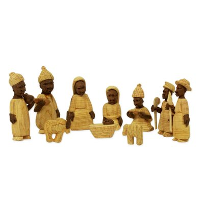 10 Piece African Themed Nativity Scene Set