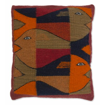 Unique Sea Life Wool Pillow Cover