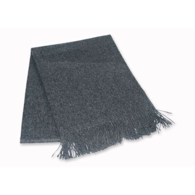 Hand Crafted Alpaca Wool Throw Blanket Color: Dark Gray