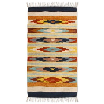 Hand-Loomed Beige/Yellow Area Rug