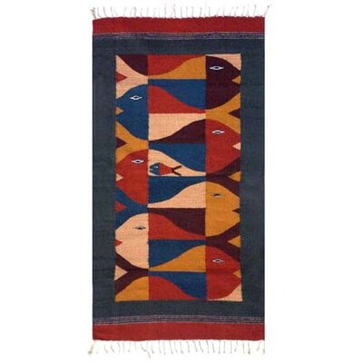 Hand-Loomed Brown/Red Area Rug