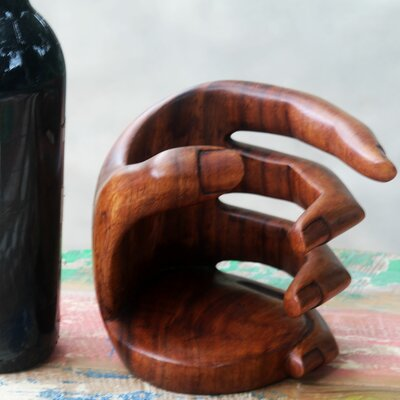Balinese 1 Bottle Tabletop Wine Rack