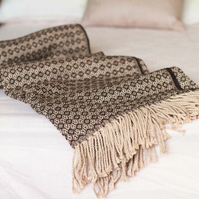 Furniture-Novica Handmade Alpaca Blend Cozy Modern Andean Style Throw Blanket
