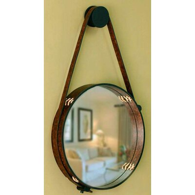 Contemporary Rustic Leather Wall Mirror 172578