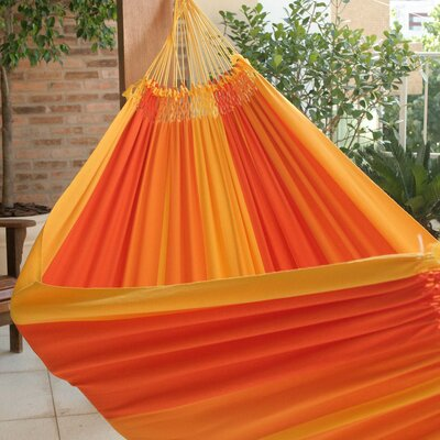 Double Person Fair Trade Portable Summertime Swing' Hand-Woven Brazilian Cotton Indoor And Outdoor Hammock 176825