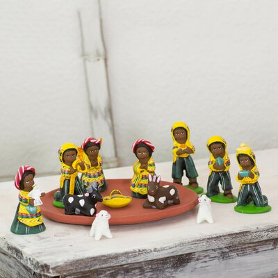 13 Piece Nativity Scene Figurine Set