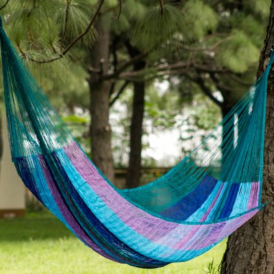 Maya Nylon Camping Hammock Color: Blue and Lilac