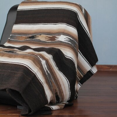 Artisan Crafted Striped Alpaca Wool Throw Blanket