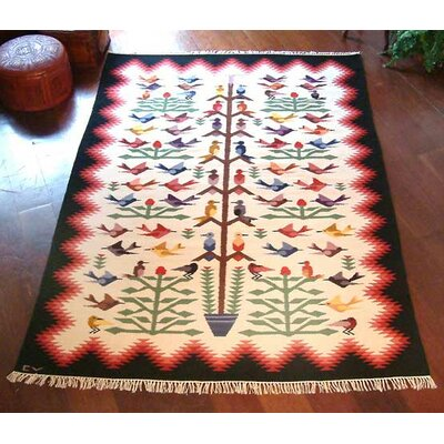 Exquisitely Hand-Crafted Beige/Red Area Rug