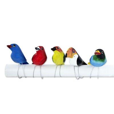 Raul Vinelli 5 Piece Brazilian Bird Ornament Set