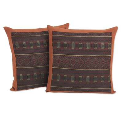 Keawpankanlaya Embroidery Cotton Throw Pillow Cover